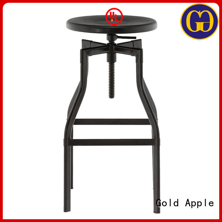 Gold Apple antique swivel stool with back adjustable for kitchen