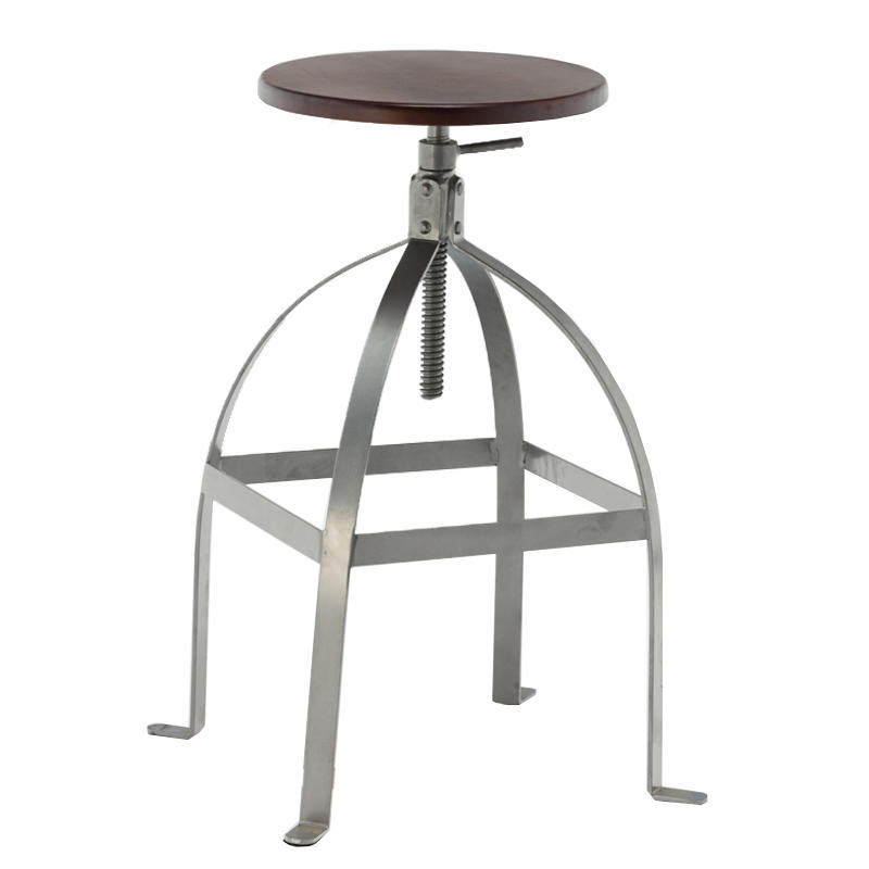 plywood wood and metal stools high-end elegant for bar-1