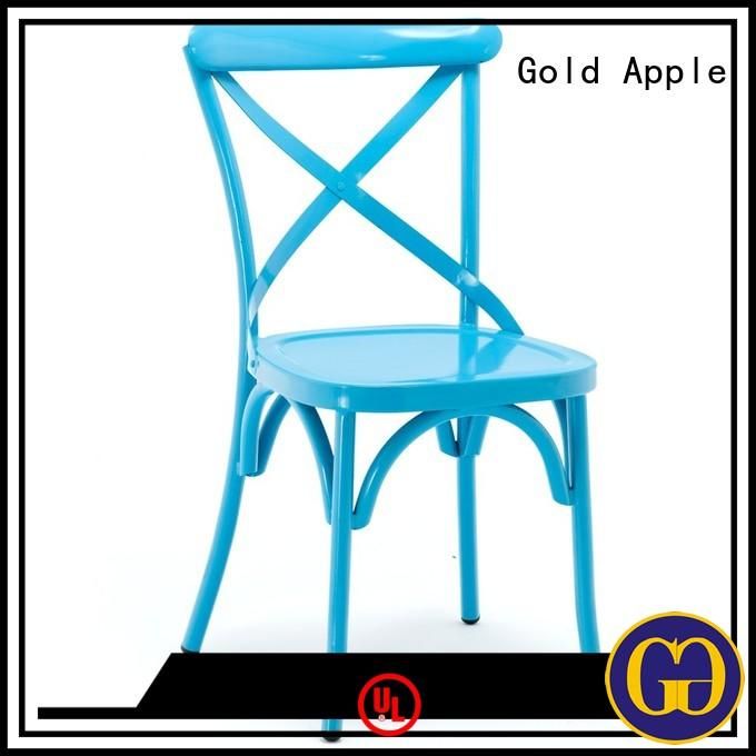 Gold Apple Brand oak metal dining chairs multipls factory