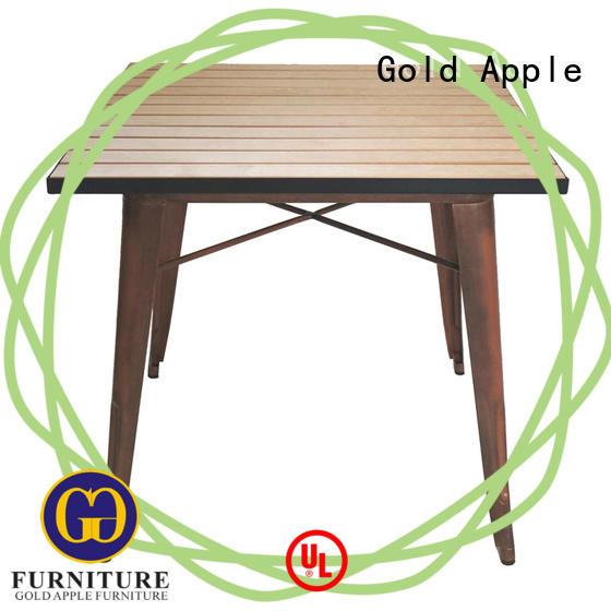 Gold Apple durable outdoor table set sale metal base for garden