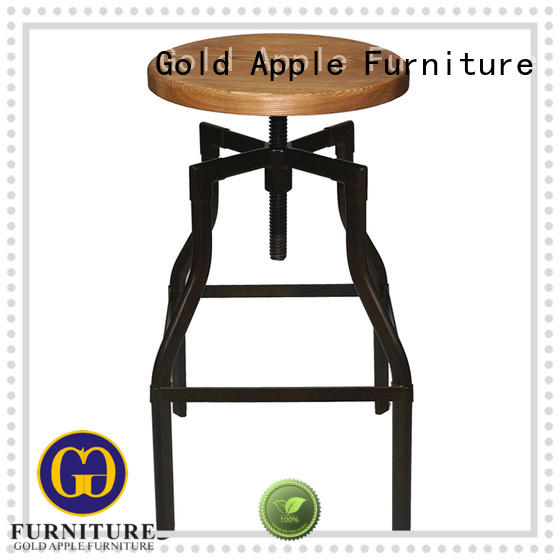 Gold Apple low-price wood swivel counter stools wooden seat for bar