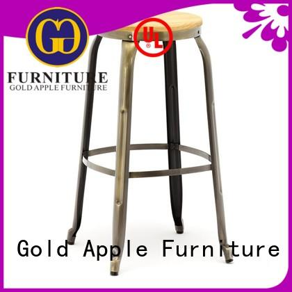 Gold Apple bar stools no back commercial coffee shop furniture
