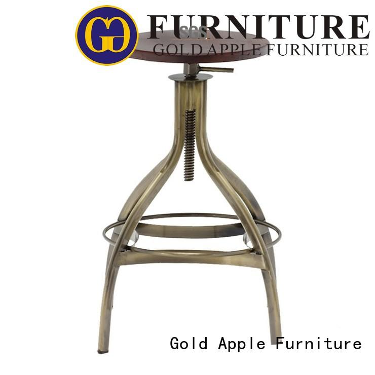 backless breakfast counter stools dinning room with armrest Gold Apple