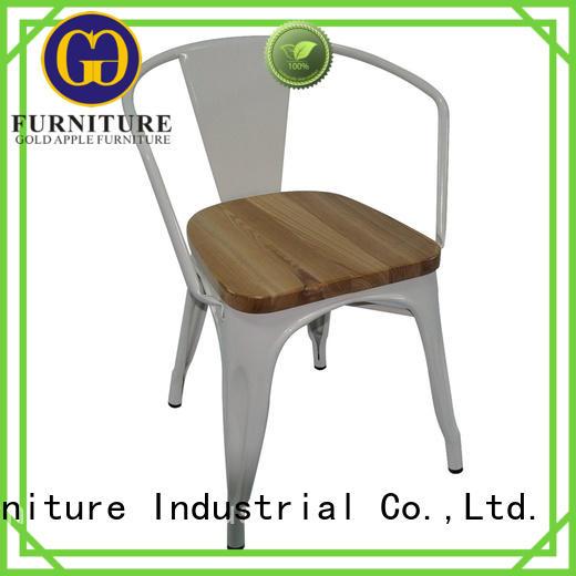 metal frame black metal kitchen chairs natural oak electroplated shelf stack