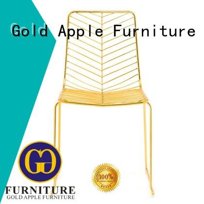 metal frame aluminum patio chairs metal wire dining chair Gold Apple