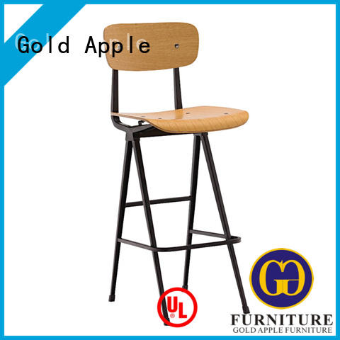 Gold Apple industrial tropical bar stools stackable dining room