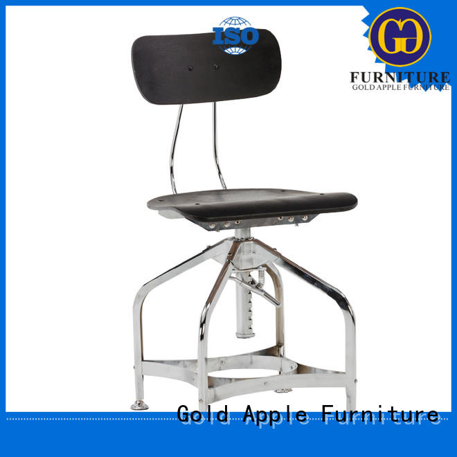 Gold Apple swivel metal cafe chairs for sale colourful without armrest