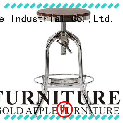 Mirror Chrome Finish Metal Industiral Metal Stool GA401C-65STW