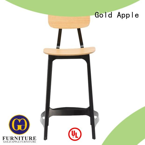 Gold Apple vintage folding wooden stool wooden seat for bar