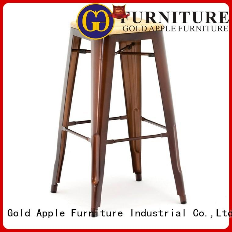 industrial high bar stools for sale top-selling adjustable height Gold Apple