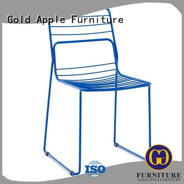 Gold Apple modern stacking garden chairs classic design for restaurant