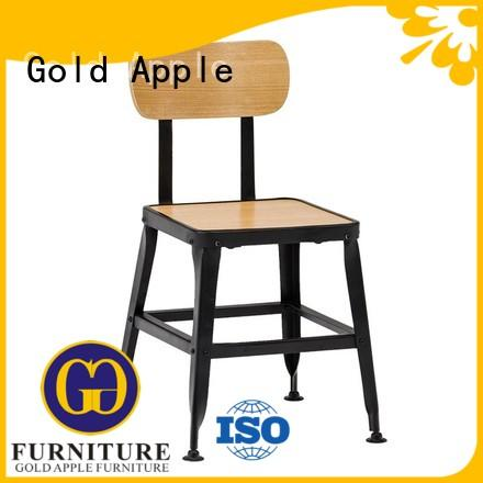 Gold Apple industrial tall metal dining chairs colourful french style