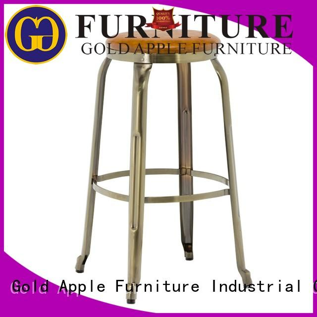 Gold Apple antique upholstered bar stools with arms adjustable with cushion