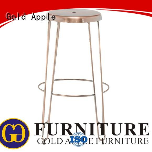 Gold Apple customized swivel bar stools for sale commercial dining room