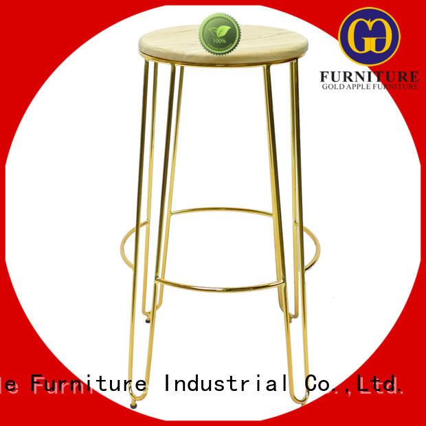 Gold Apple adjustable height wood top bar stools elegant for bar