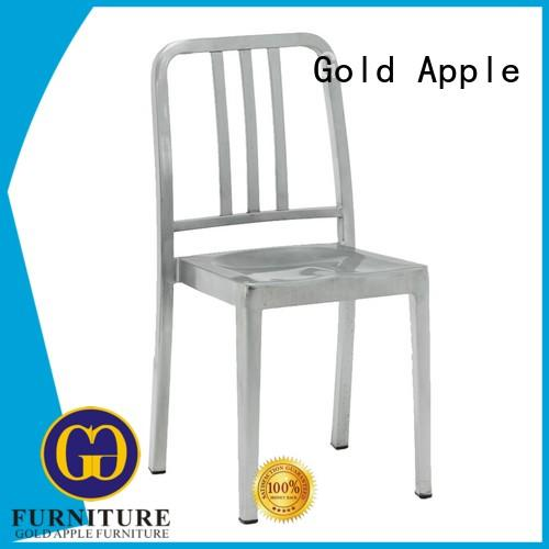 Gold Apple wooden metal wire dining chairs colourful without armrest