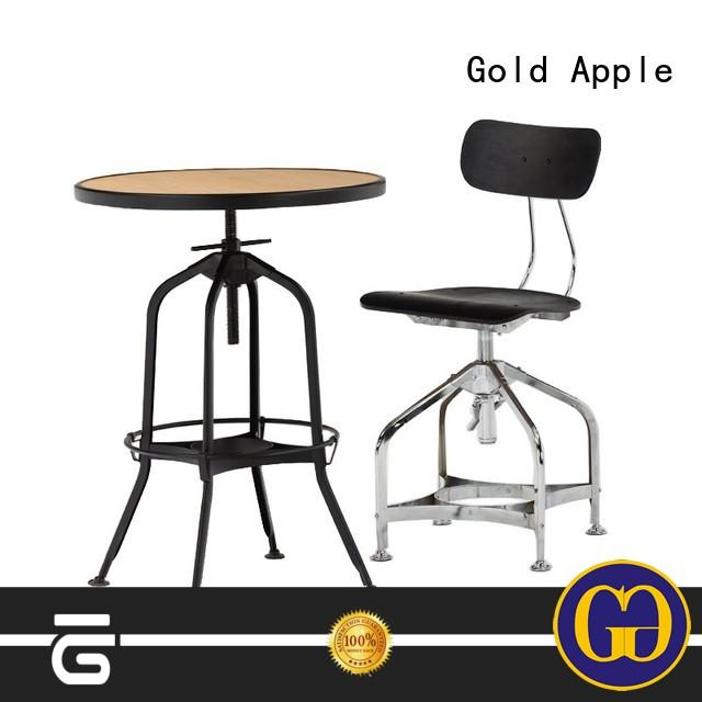 outdoor dining table set for 4 round shape Gold Apple