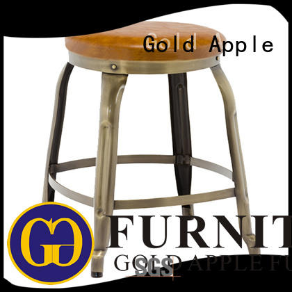 industrial low kitchen stools metal frame rose gold for wholesale