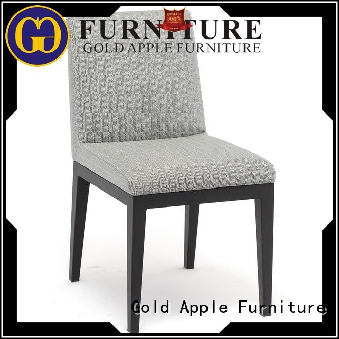 Gold Apple chinese metal upholstered dining chairs newest style pu leather