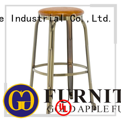 Gold Apple vintage kitchen counter stools with backs rose gold for restaurant