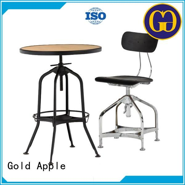 Gold Apple french style small wood dining table set round shape for hotel