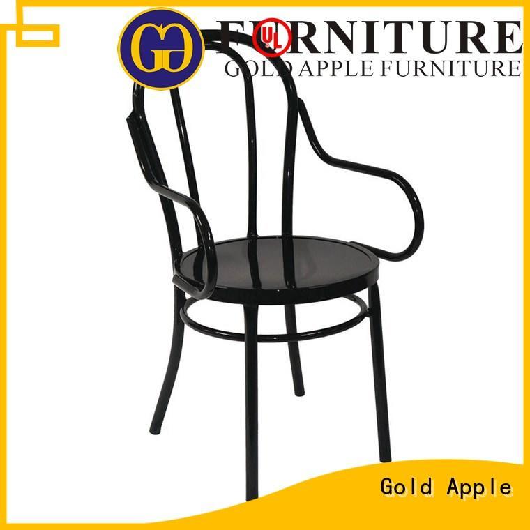 bar furniture vintage metal chairs natural oak electroplated shelf stack