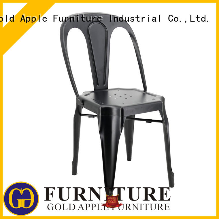 Gold Apple metal wire aluminum outdoor chairs modern restaurant furniture