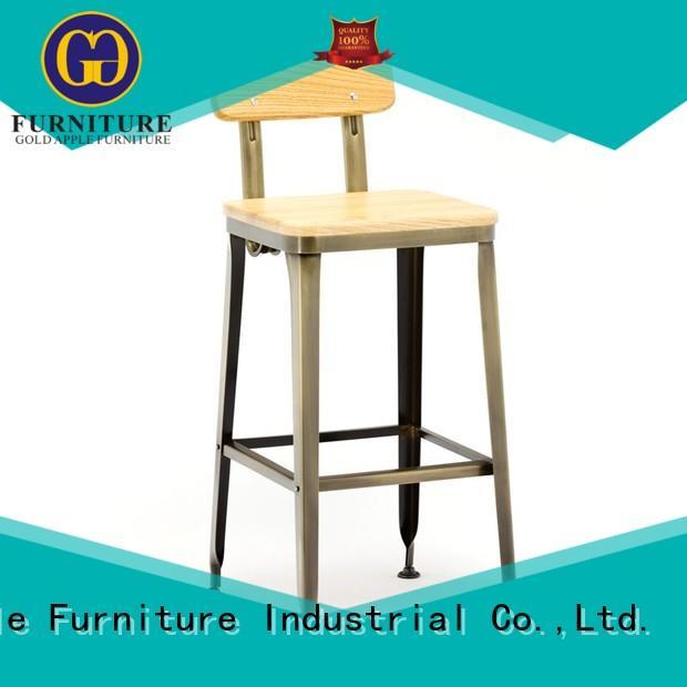 Gold Apple vintage aluminum bar stools stackable restaurant