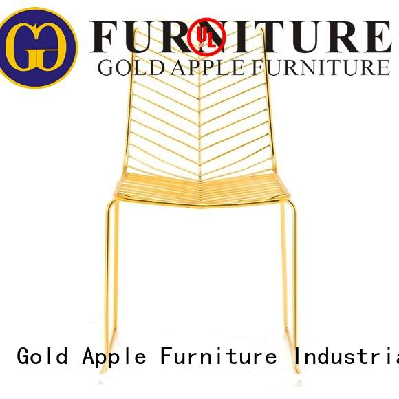Gold Apple metal frame outdoor chairs for sale modern restaurant furniture