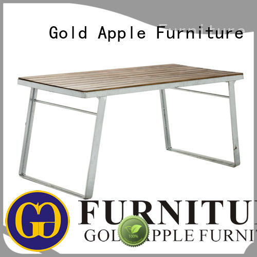 Gold Apple luxury wood dining tables for sale commercial at discount