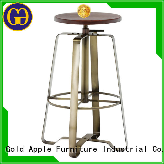 Gold Apple promotional wooden bar stools with arms commercial dining room