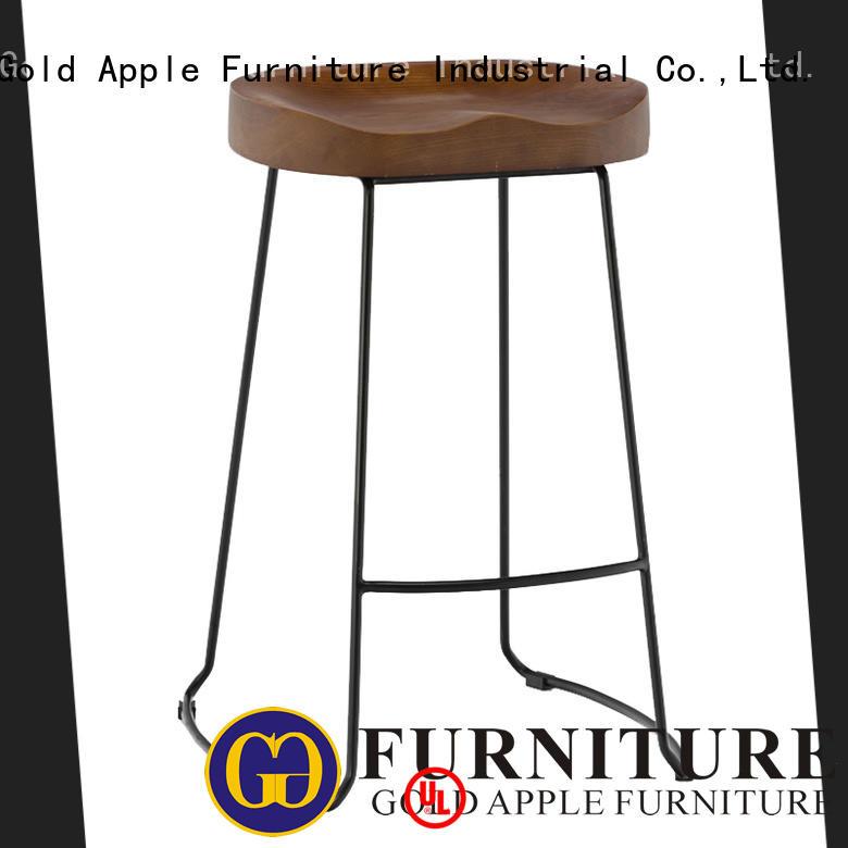 New Modern Wooden Seat Metal Wire Bar Stools GA3701C-65STW