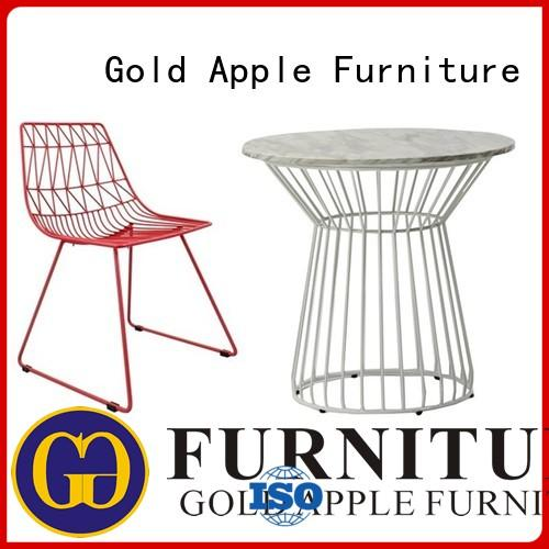 Gold Apple industrial outdoor round table and chairs