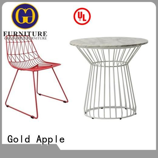 wod outdoor outdoor dining table and chairs round Gold Apple company