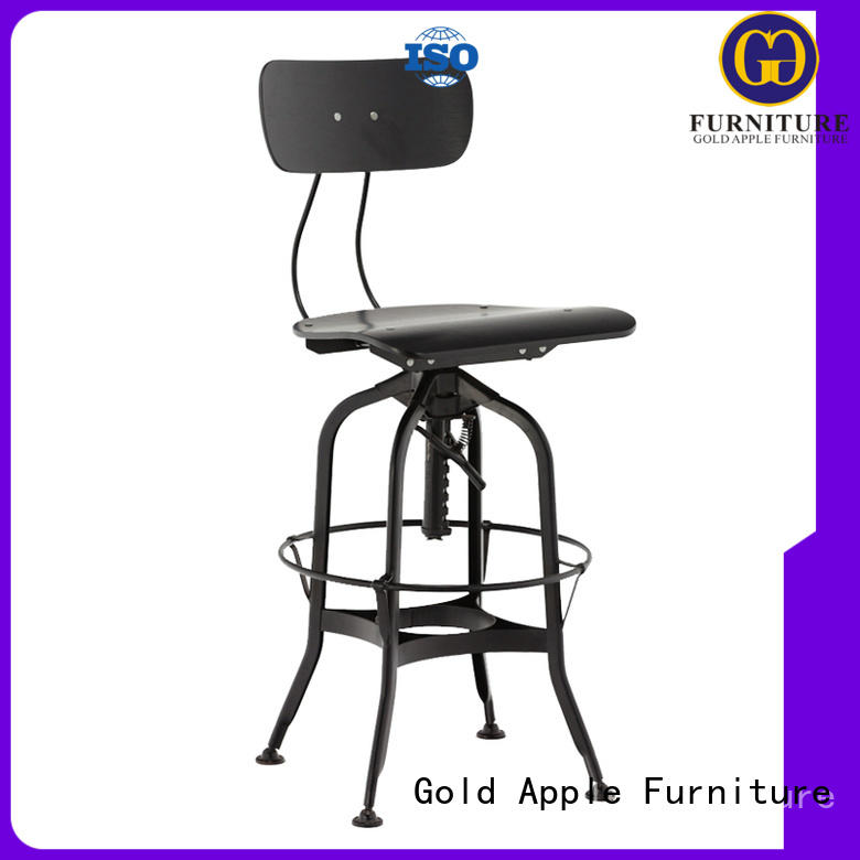 Custom without wooden swivel bar stools chair Gold Apple