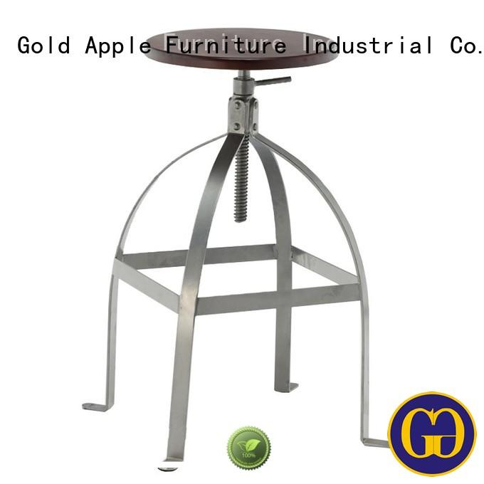 Gold Apple industrial black swivel bar stools powder coating for wholesale