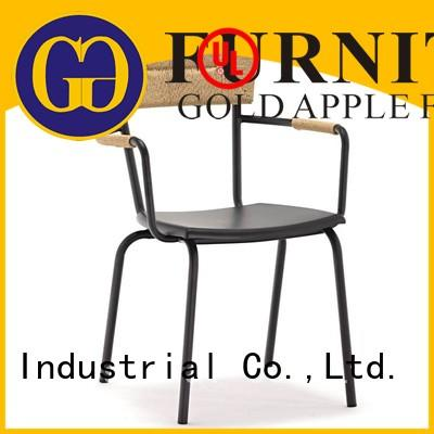 Gold Apple modern brown metal dining chairs industrial shelf stack