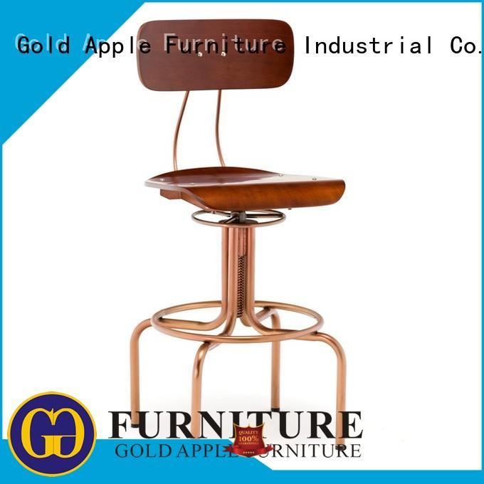 customized upholstered kitchen bar stools stackable adjustable height Gold Apple