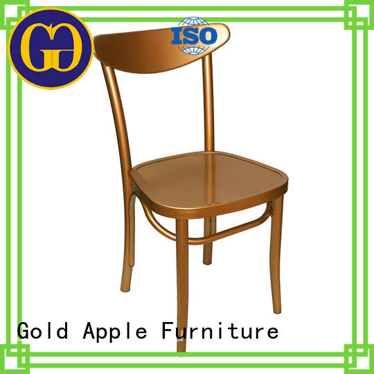 Gold Apple comfortable metal dining chairs with arms dining chairs without armrest
