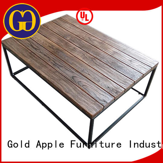 Gold Apple round coffee tables for sale custom for coffee shop