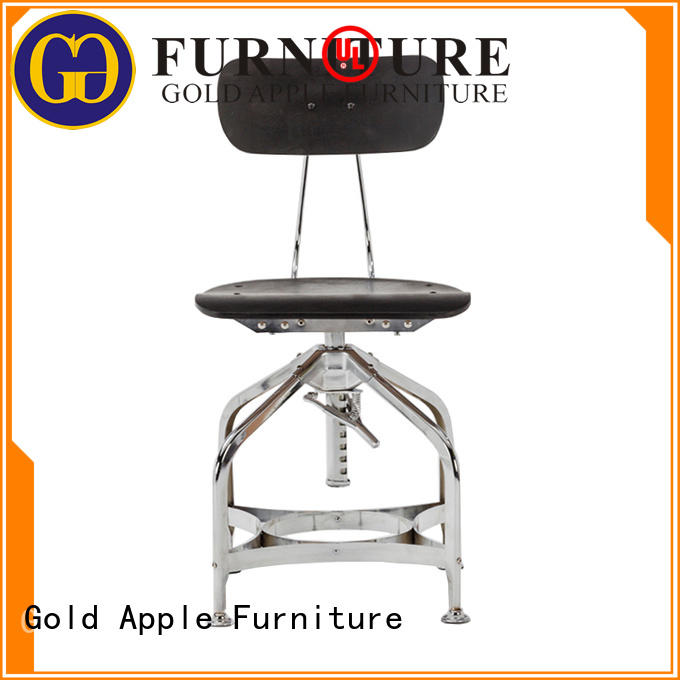 Gold Apple wooden seat low height stool bistro for wholesale