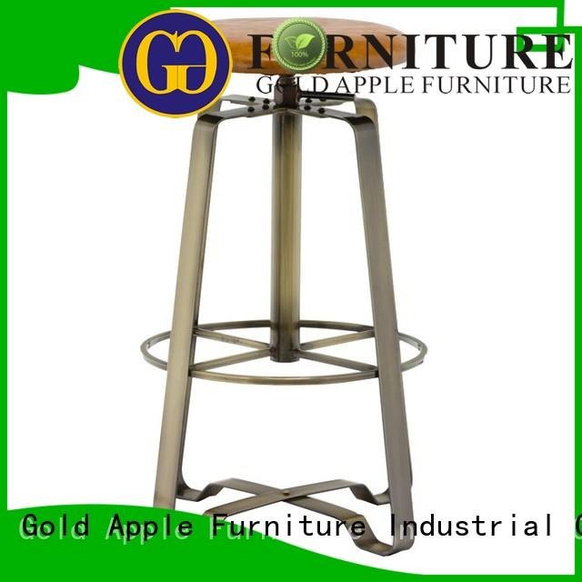 metal wood and iron counter stools dinning room for restaurant Gold Apple