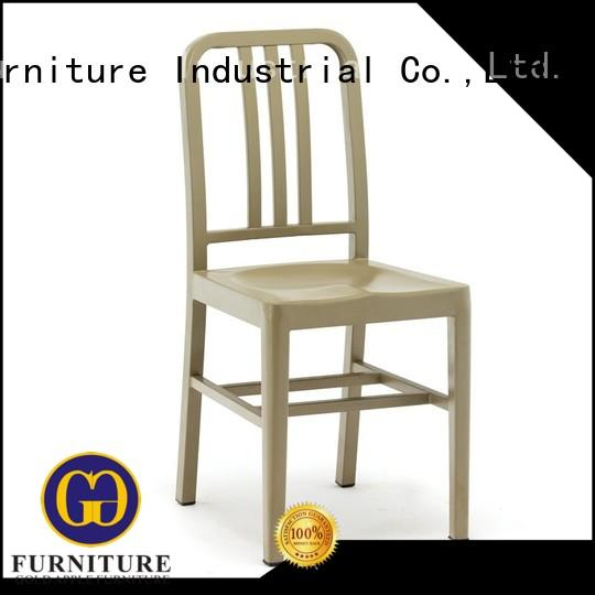 industrial metal chair dining set wooden french style Gold Apple
