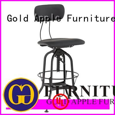 heavy upholstered swivel bar stools with backs for restaurant Gold Apple