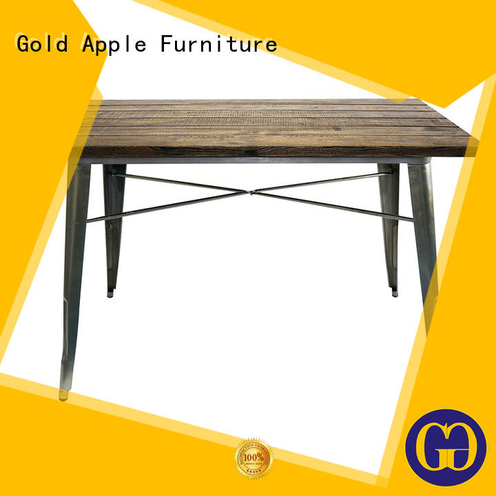 Gold Apple high-end small round wood dining table for catering