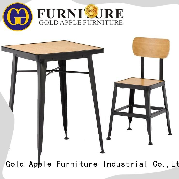 Gold Apple folding wood dining room table sets living room for hotel