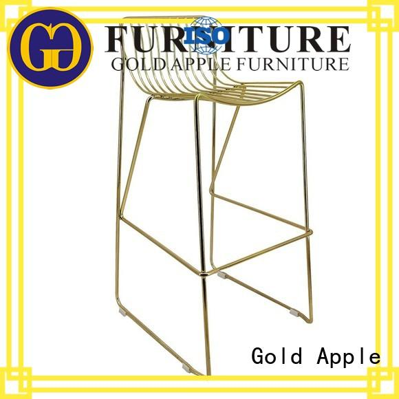 Gold Apple commercial outdoor swivel bar stools metal wire