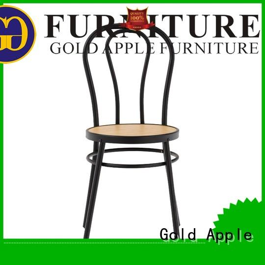 Gold Apple metal frame industrial metal chairs electroplated without armrest