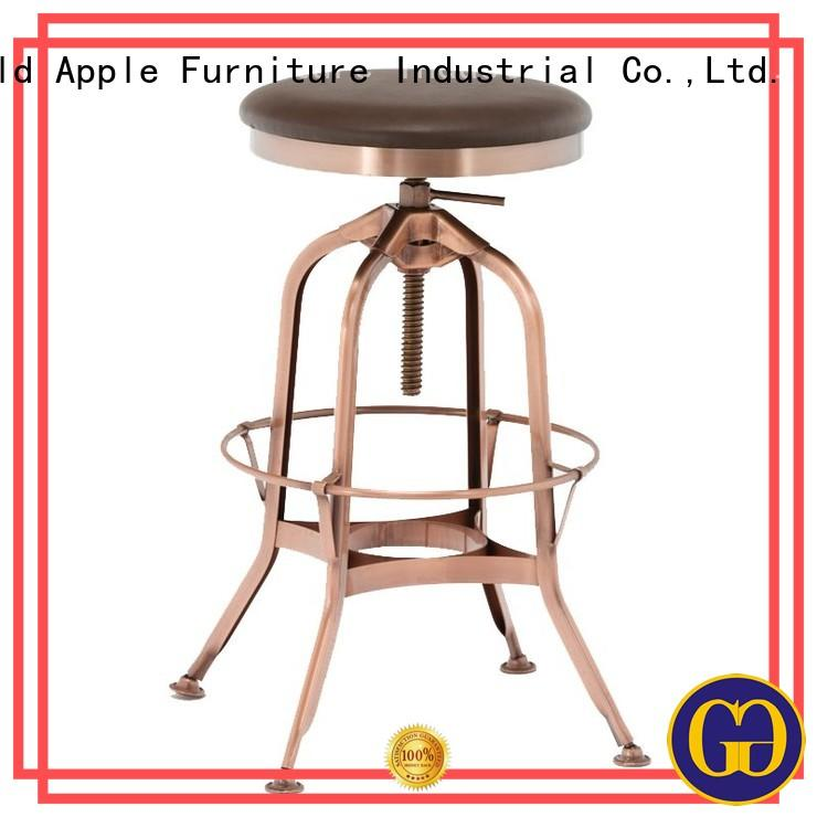 metal bar chair upholstered swivel bar stools with cushion Gold Apple