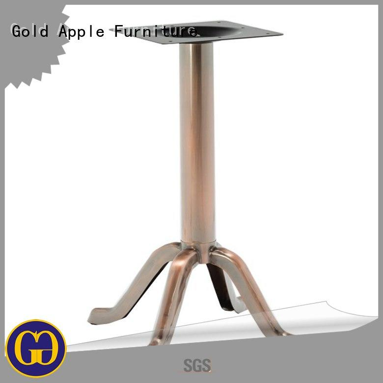Gold Apple industrial steel dining table legs iron wire for bistro